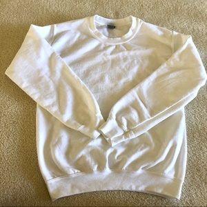 gildan white crewneck sweatshirt pullover